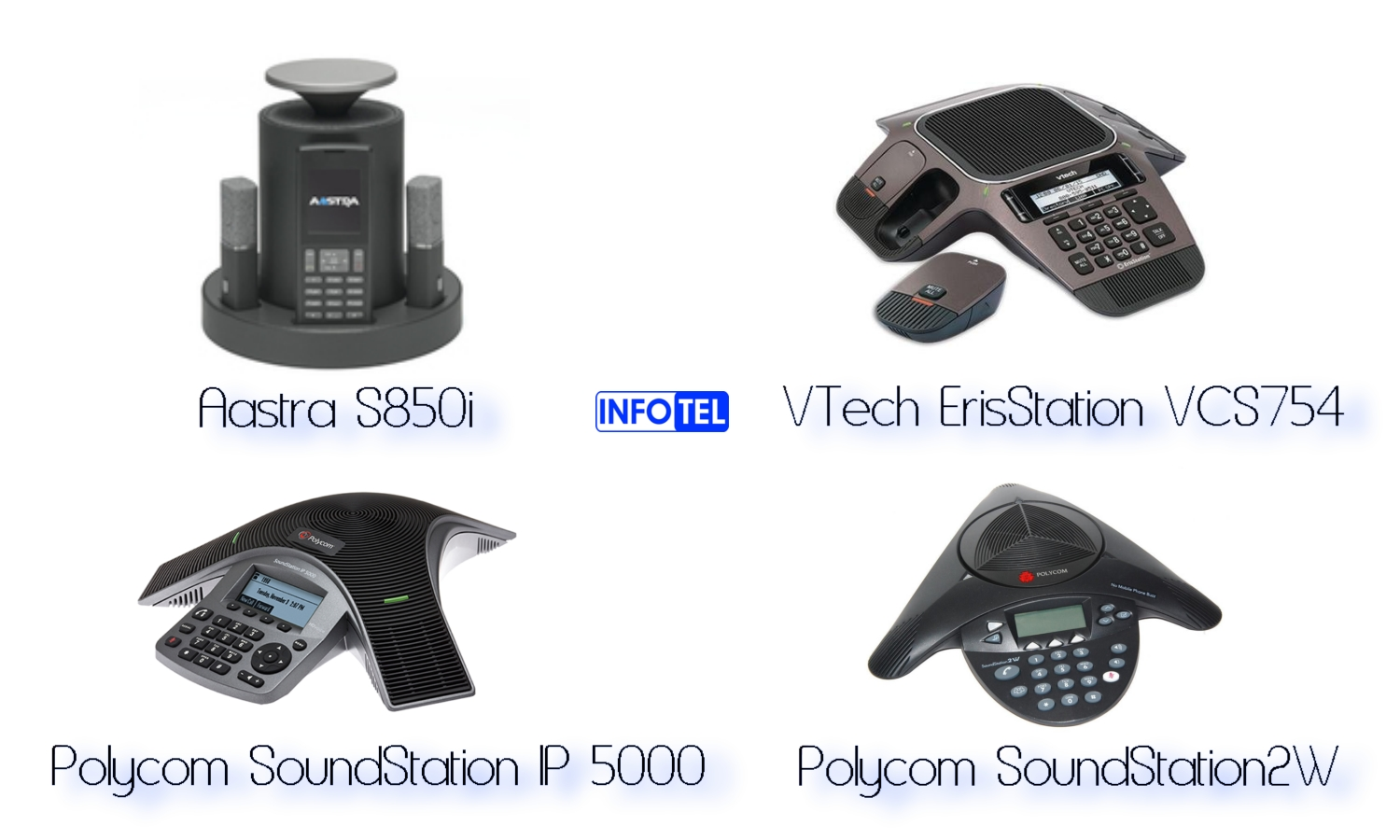 Conference phones wireless Aastra Vtech Polycom clarity
