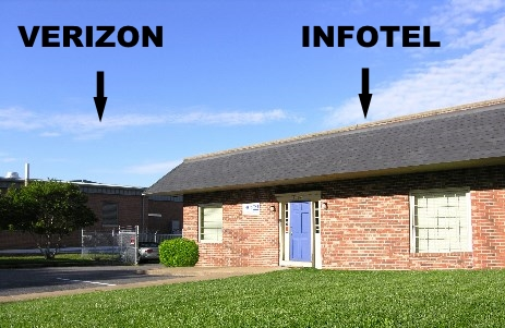 Hosted VoIP data center is next to Verizon